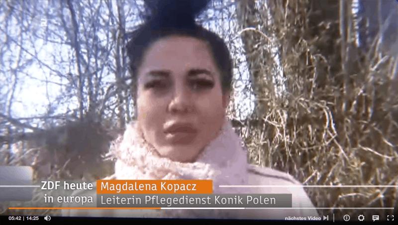 Szefowa Konika wwiadomościach Zdf-Nachrichten