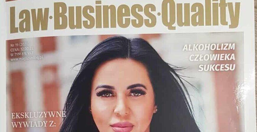 Szefowa firmy KONIK Magdalena Kopacz wmagazynie Law Business Quality